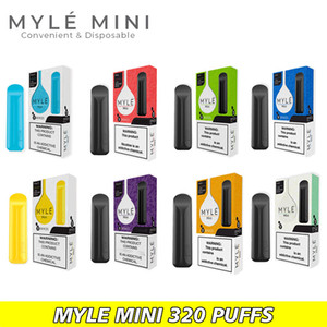 Myle mini dispositif jetable POD Kit Battery 320 Puffs Cartouches Pré-remplies Pen de Vape Fast DHL expédition