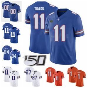 Colégio NCAA Florida Jacarés Football 27 Dameon Pierce Jersey 11 Kyle Trask 1 Kadarius Toney 84 Kyle Pitts 51 Ventrell Miller Azul Laranja