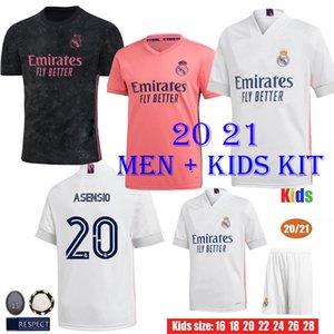 20 21 Реал Мадрид Футбол Футбол Короткая Домашний Домашний Дом Третья Мальчики Наборы Хазарда Зидан Бензема Футбольные Рубашки CamiSeta de Futbol Men Kids Set Tai