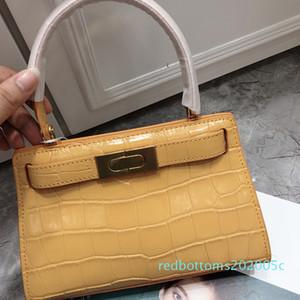 Art2020 Handbag Cowhide Woman Crocodile Messenger Lines Packet Niche Single Shoulder Bag Genuine Leather Kylie Package r05