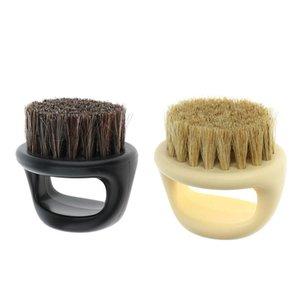 Men's Mustache Beard Brush Barber Salon Hair Sweep Brush Shaving Facial Hair Neck Face Duster Brus jllyxN nana_home