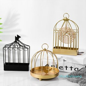 Classic Fashionable Mosquito Coil Holder Home Decor Retro Iron Art Hang Style Holder For Coil Type Mosquito Repellent Incense
