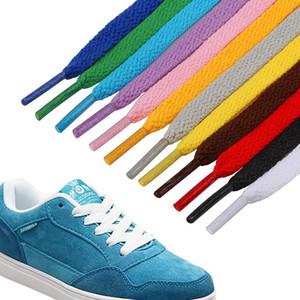 Polyester Hassas Dokuma Ayakkabısı Tek Katlı 8mm Genişlik 50 cm / 80 cm / 100 cm / 120 cm Spor Rahat Shoestring Klasik Ayakkabı Bağcıkları HWB1592