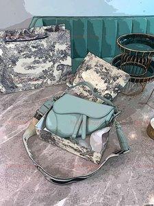 Top luxe Genuine Leather 24cm Saddle bag high quality women Crossbody bag Designered shoulder bag handbag wallet clutch totes