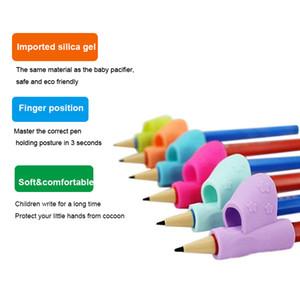 교육 어린이를위한 인체 공학적 연필 편안한 그립 연필 홀더 펜 쓰기 원조 그립 자세 교정 도구