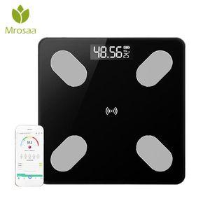 Digital Bathroom Scales scientifico del grasso di corpo Scala Salute Scala intelligente elettronica del peso Equilibrio bluetooth per Android IOS
