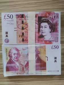 Quente Vendas Cópia Cédula Papel Prop UK Moviment Money Prop Dinheiro Libra Frete Grátis 100 pcs / Pack