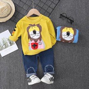 Baby Boys Clothes Letter Spring Autumn Children Cotton T-shirt jeans 2Pcs sets Infant Out Kid Fashion Toddler Clothing Tracksuit