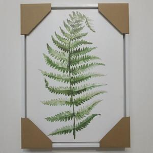 Green Plant Digital Painting Modern Decorato Immagine incorniciata Pittura Fashion Art Painted Hotel Divano Decorazione della parete Disegna Sea Modo HWF2761