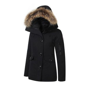 Women Trillium Femme Outdoors Fur Down Jacket Hiver Thick Warm Windproof Goose Down Coat Thicken Fourrure Hooded Jacket Manteaus Doudoune 11