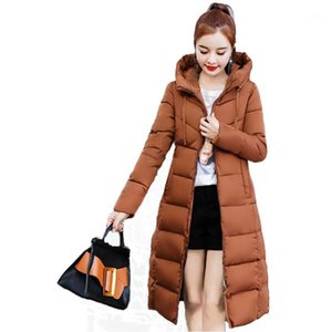 Plus Size XXXXL Winter Jacket Women Down Cotton Thicken Parkas Monteau Femme Hoodies Warm Long Coat Women Casual Winter Jackets1