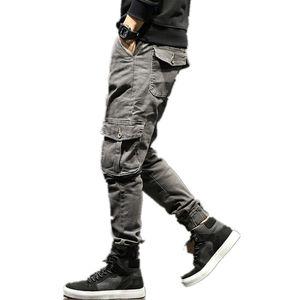 Fashion Jeans mens Cargo pants Loose pants classic jeans male denim jeans Designer Trousers Casual Straight pants