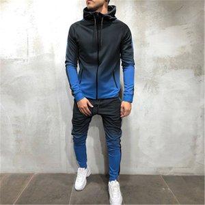 Мужские 3D Градиентные Узкие брюки Мода Trend Trend Hip Hop High Street Спорт Фитнес Брюки Карандаш Весна Мужской Новый Скейтборд Повседневная Тонкие брюки