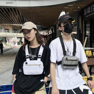 Designer-Hip Hop Boy Streetwear Chest Bag Men Tactical Vest Bag Kanye Fashion Function Chest Rig Bag Unisex Shoulder Vest Waist Pack T200521