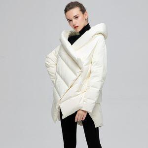 Yvyvlolo Chaqueta de invierno para mujer Capa de moda abrigo de invierno Mujer Parka suelta Plus Tamaño abajo Abrigo de invierno Chaqueta cálida Outcoat 201031