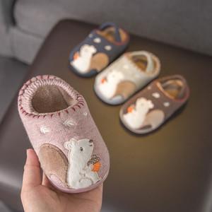 Little Baby Slippers para niños para niños para niñas de invierno zapatillas de baño antideslizantes zapatillas para niños pequeños bebés baby boys shoes 201026