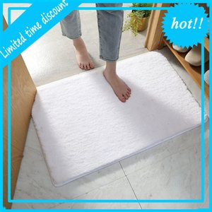 Factory wholesale hotel  bathroom microfiber absorbent solid non slip shaggy bath mat
