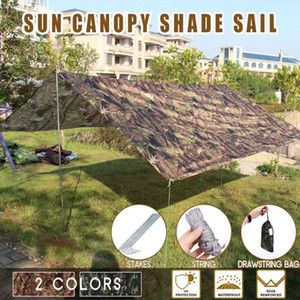 Outdoor Shelter Ultralight Tarp Camping Survival Sun Shelter Multifunctional Waterproof Beach Awning Beach Mat Rain1