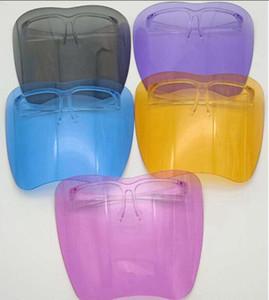 Clear Glass Face Shield Face Face Masarilla protectora de plástico Colorido anti-niebla anti óleo polvo SPLASH CUBIERTA SAFTY FACESHIELD GGA3799