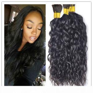 Malaysian Natural Wave Hair Bulk 3Pcs Lot Grade 8A Unprocessed Human Hair Bulk No Weft Can Be Dyed Free Shipping No Shedding