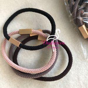 Durable Elastic Hair Hand Square Metal Incidere Lettera C Fashion Hair Tie Classic Hair Rope V V Collezione regalo Accessori
