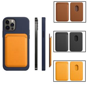 Lederwallet Kreditkarten-Bargeld-Taschen-ID-Kreditkartenhalter-Beutel für iPhone 12 Mini Pro Max-Unterstützung Magsafe