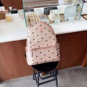 Double Sac à bandoulière Série latérale Série de rivets Rose Gold Mini, moyen, grand, de la mode européenne et américaine filet rouge fantaisie Sac à dos de mode Schoolbag.