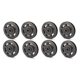 8pcs 95mm de rodamiento negro Cable de la rueda de la polea Equipo de gimnasio Pieza impermeable