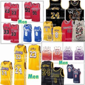24 8 33 LeBron 23 6 James Bryant Jersey Los AngelesLakersJerseys Michael Chicago 91 Dennis Rodman Bull Merion inferior Scottie Pippen