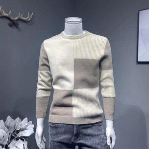 Sonbahar ve kış sıcak kazak erkek yuvarlak boyun gençlik Kore kalın ince kazak yakışıklı çok yönlü basit dibe gömlek