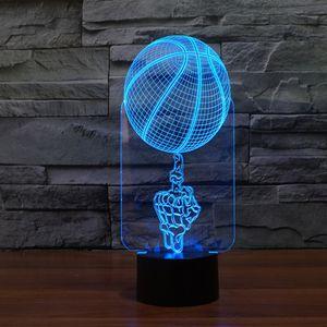 2021 novos projetos de luz de basquete incrível lâmpada de mesa noite iluminação 7 cor mudando luzes led para presentes 0H28