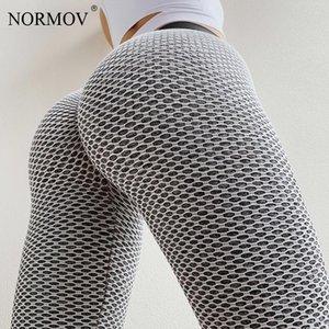 Normov Cargo Cintura Alta Calça Calças Mulheres Calças Para Fitnes Mulheres Alta Elasticidade Respirável Corredores Malha Sweatpants Mulheres Y200418