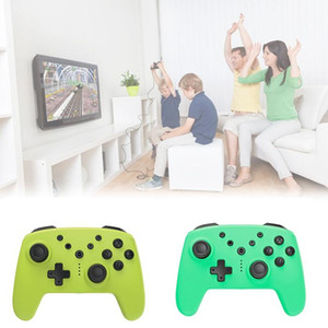 Wireless Gamepad for N-Switch Pro NS Pro Game Joysticks Controller with 6-Axis Handle 3.5mm AUX(Green)