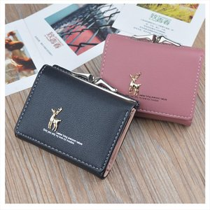 Small Women Wallet Animal Short Womens Wallet Card Holder Girls Mini Wallet Woman Fashion Lady Coin Purse for Female Clutch Bag