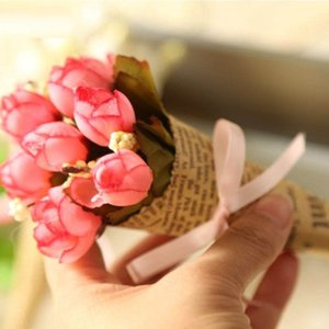 gift Valentine Artificial decoration Mini Rose Home Holiday simulation Flower photography props wholesale handmade newspaper flowers