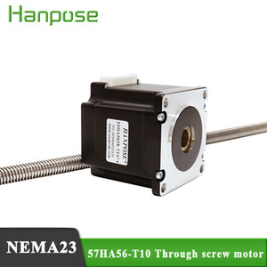 57 through-type linear screw stepper motor 300MM 57HA56-T10*8 screw 56MM cylinder movement screw rod telescopic walking