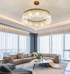 Nordic Led Ceiling Lights Crystal Living room Lamp Gold Round Ceiling Indoor Hanging Lamp For Kitchen Bedroom lustre moderno
