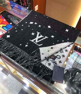 Automne et hiver écharpe de laine marque en cachemire tricoté châle pashmina de Designer Homme Femme Mode Foulards sauvages épais foulard echarpe de luxe