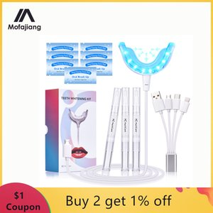 Kit di sbiancamento dei denti Blue Light Blue Whitening Gel 16 LED Whiter Denti Denti Dente Sbiancamento Penne Dropship Denti Sistema di sbiancamento