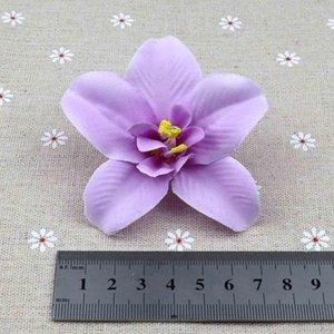 Искусственный шелк орхидея Carter / 124; «таиланд орхидея голова», свадьба украшение цветок, фиолетовый венчик, 20 шт /