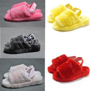 2020 Furry Slippers Australia infants fluff yeah slide Women casual shoes womens SneakersuggswggsSandals Fur Slides Sli A9gK#