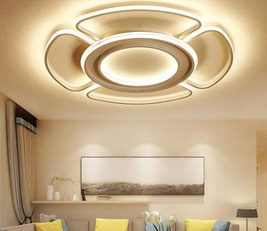 Modern Led Ceiling Lamp Remote Control Light Surface Mounted Dimmable Ceiling Light for Kitchen Lamp Living Room Bedroom Light D80CM