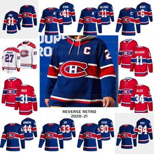 31 Carey Price Montreal 2021 Retro Retro Shea Weber Paul Byron Karl Alzner Brendan Gallagher Jonathan Dro0uin Toffoli Corey Perry Jersey