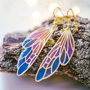 Bunte Flügel Ohrringe Butterfly Wings Exclusive Frauen Gradient Bunte Flügel-Schmetterlings-Ohrringe