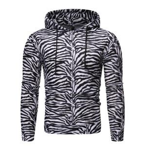 Erkek Hoodies Sweatshirt Moda 3D Zebra Çizgili Hoodie Erkekler Kadınlar Streetwear Hip Hop Casual Kapşonlu Kazaklar Erkek yazdır