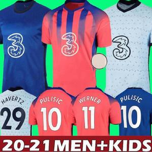 Thailand 20 21 ABRAHAM WERNER HAVERTZ CHILWELL ZIYECH Soccer Jerseys 2020 2021 PULISIC Football Shirt KANTE MOUNT Men Kids sets Kits