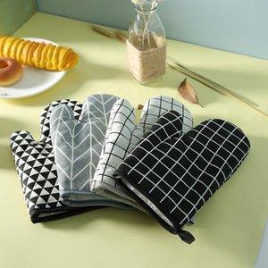 Gants BBQ résistant à la chaleur épais Four à micro-ondes Gants de cuisine de cuisine Cuisson extérieure Gril Utiliser des gants OWF1241