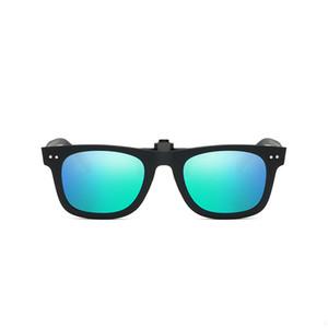 Uanview (Uanview Clip Tour Rivet Square Square Square Sunglasses Lunettes de soleil Polarisée Brillant Myopia Clip Vision Night Vision Goggles WD2140