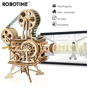 ROBOTIME RETRO DIY DIY MANCK FILM DE PROJETOR MODELO MODELO KITS CONJUNTOS DO CONJUNTO DE VIXITASCOPESS PRESENTE PARA CRIANÇAS adultos LJ200928