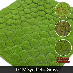 Artificial Moss Falso Decorative Faux Moss Erba Linchen Turf Piante Prato Patio Natale Home Shop Decor verde erba sintetica fcQ7 #